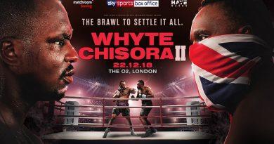 Whyte vs Chisora 2 Tickets