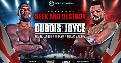 dubois vs joyce tickets
