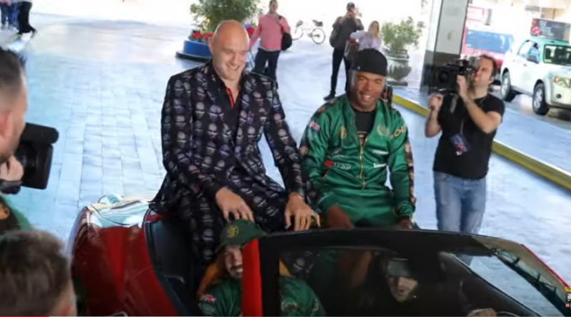 watch fury arrive in las vegas