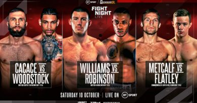 liam williams vs andrew robinson