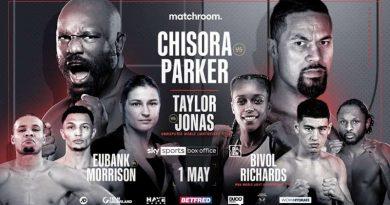 Derek Chisora vs Joseph Parker fight info